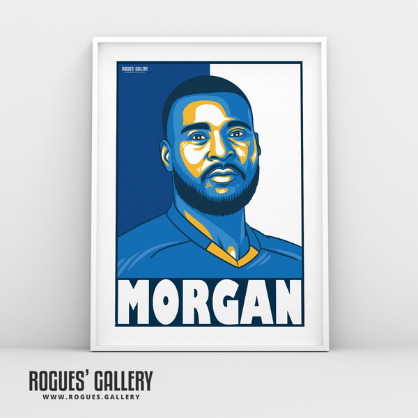 Wes Morgan defender captain Leicester City LCFC Foxes Premier League Champions A3 Print