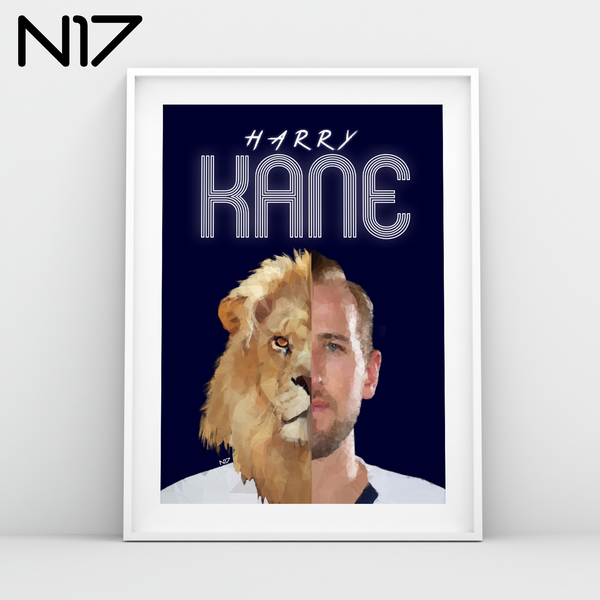 Harry Kane THFC forward captain Spurs England Skipper N17 print edits A3