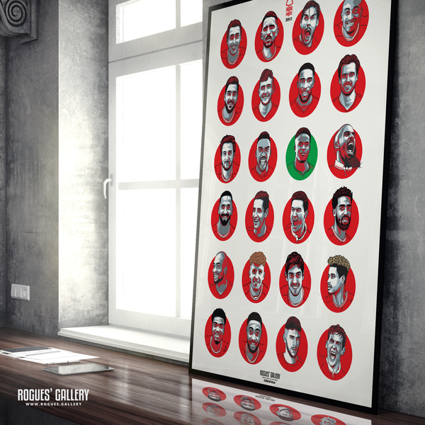 Nottingham Forest FC Squad 2020-21 #GetBehindTheLads poster gift signed limited edition