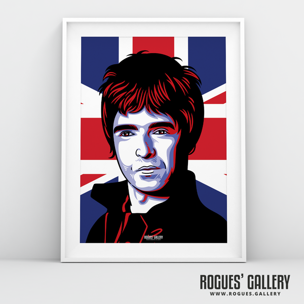 Noel Gallagher Oasis Union Jack art print rock poster edit A3 split new