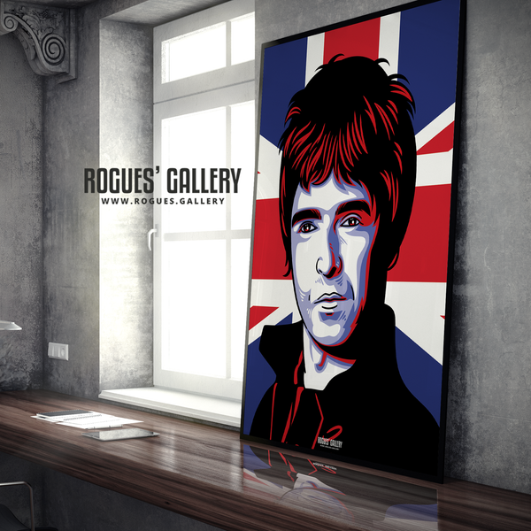 Noel Gallagher Oasis Union Jack art print rock poster edit A1 limited edition