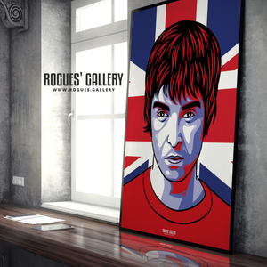 Noel Gallagher Oasis Union Jack art print rock poster edit A1