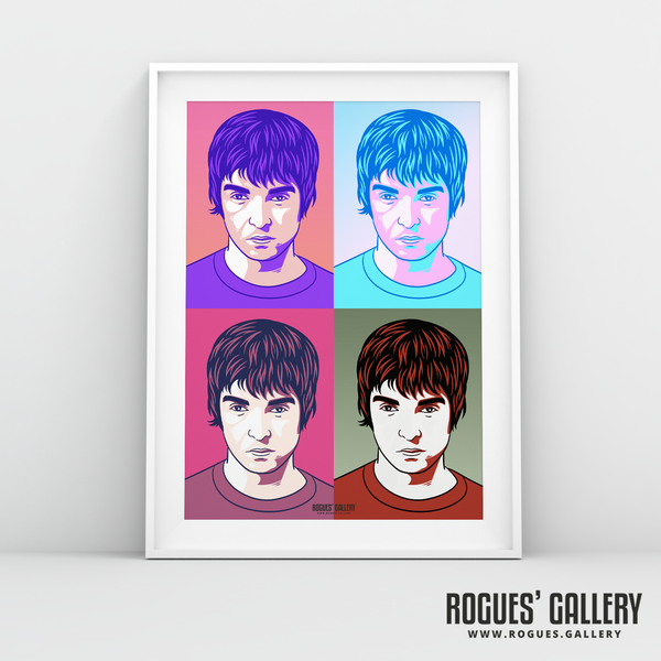 Noel Gallagher Oasis pop art print rock roll drugs poster edit A3