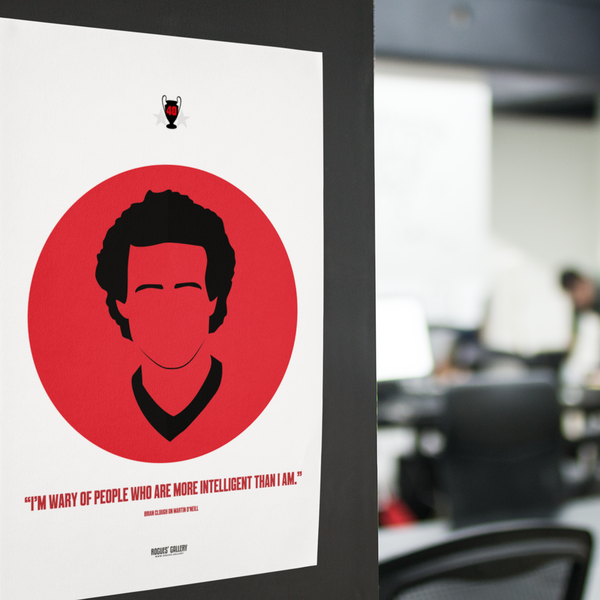 Forest Print Icon Martin O'Neill A3 Eire Artwork NFFC
