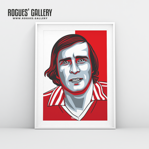 John O'Hare Nottingham Forest forward A3 print edit design
