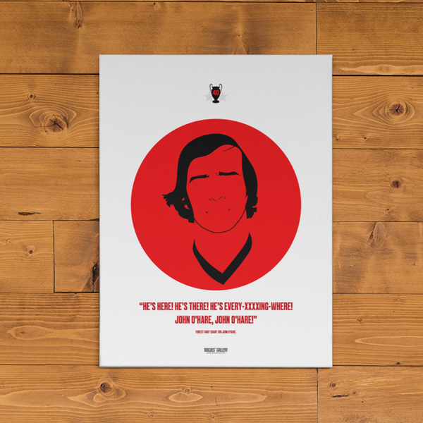 John O'Hare Nottingham Forest League Cup Boxes A3 Print