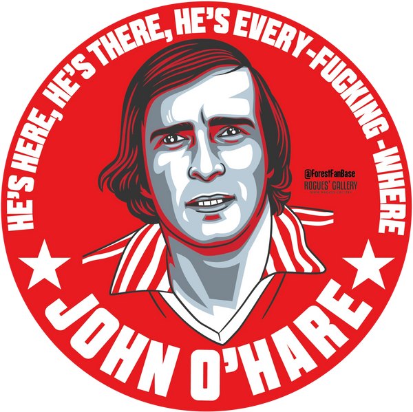 John O'Hare Nottingham Forest forward Deluxe stickers #GetBehindTheLads