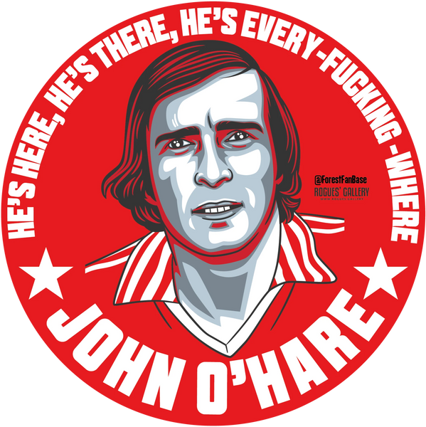 John O'Hare Nottingham Forest forward beer mats #GetBehindTheLads