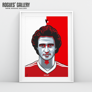 Martin O'Neill Nottingham Forest midfielder A3 print edit design