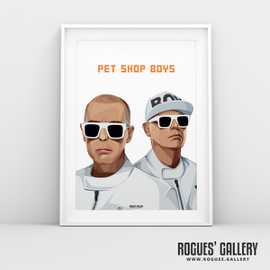 Pet Shop Boys Neil Tennant Chris Lowe art graphic design sunglasses at night go west tour hits A3 print