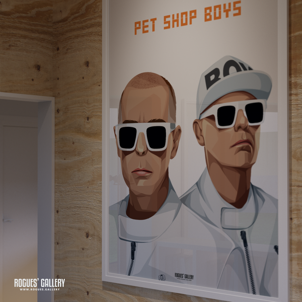 Pet Shop Boys Neil Tennant Chris Lowe art graphic design sunglasses at night go west tour hits A0 print