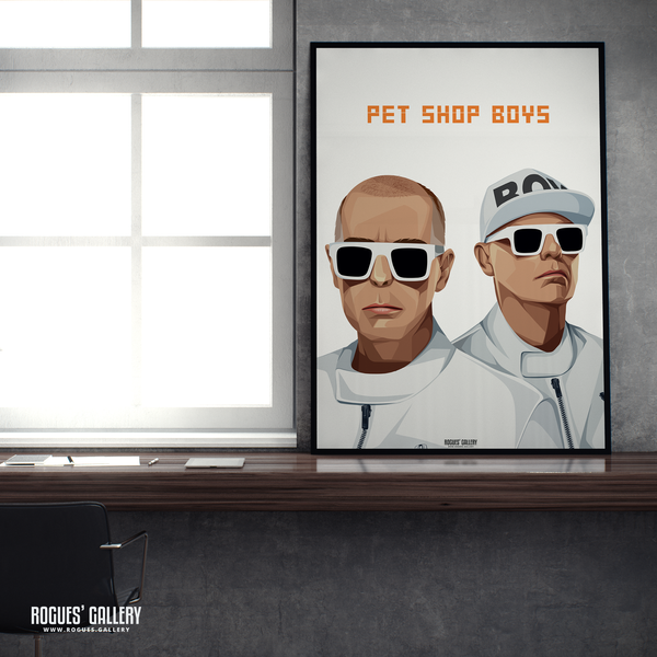 Pet Shop Boys Neil Tennant Chris Lowe art graphic design sunglasses at night go west tour hits A1 print