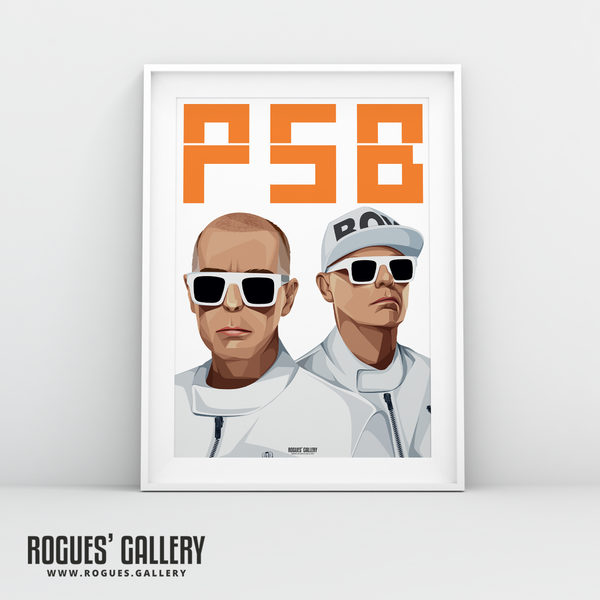Pet Shop Boys Neil Tennant Chris Lowe art graphic design sunglasses at night hotspot PSB tour hits A3 print