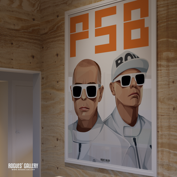 Pet Shop Boys Neil Tennant Chris Lowe art graphic design sunglasses at night hotspot PSB tour hits huge poster amazing gay homosexual