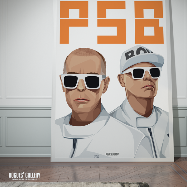 Pet Shop Boys Neil Tennant Chris Lowe art graphic design sunglasses at night hotspot PSB tour hits A0 print