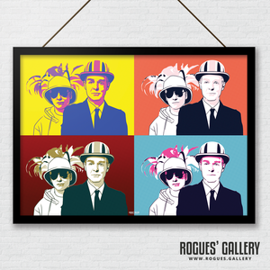 Pet Shop Boys Pop art style print A3 Chris Lowe Neil Tennant