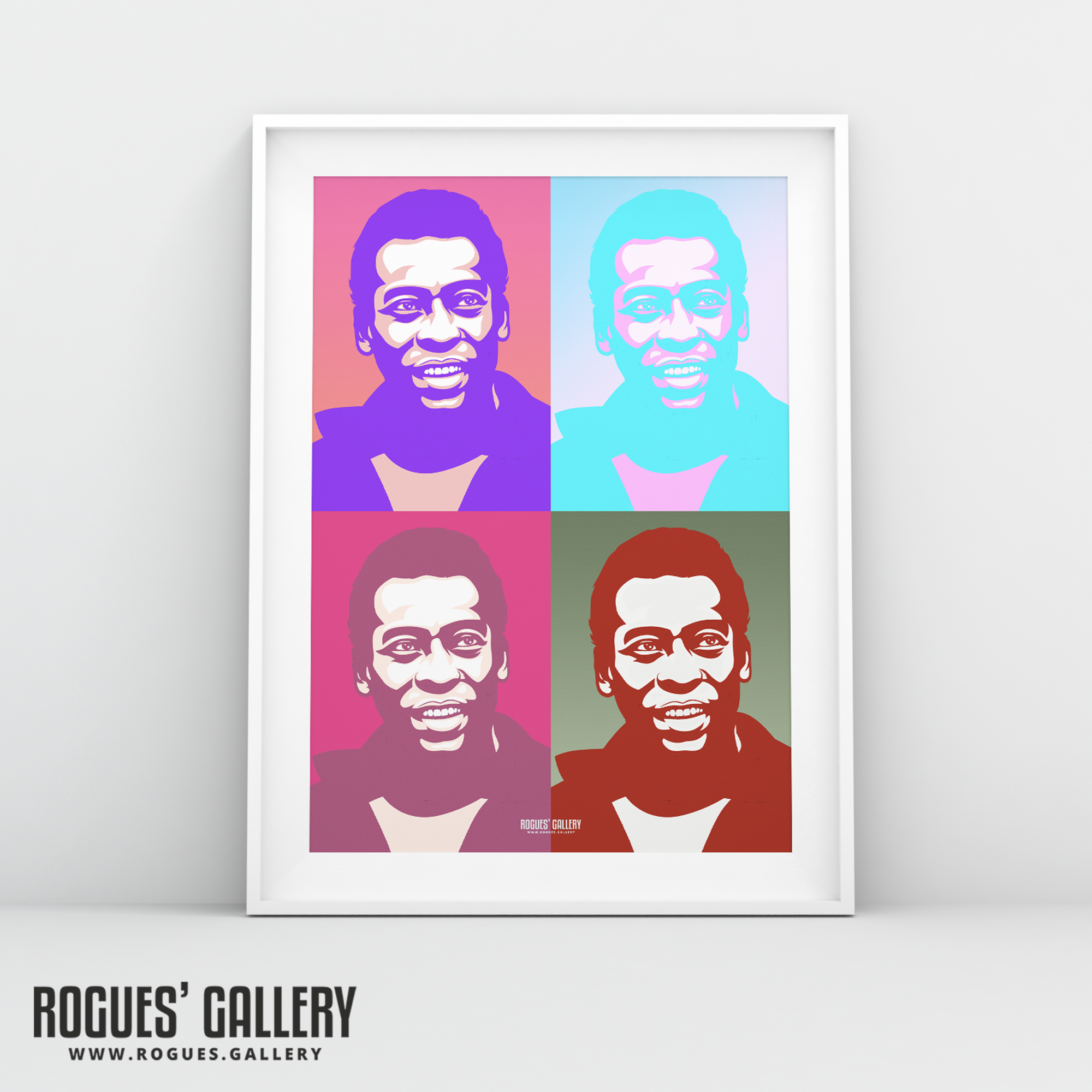 Pele pop art A3 print legend Brazil Brasil football World Cup Winner Andy Warhol