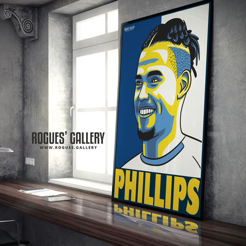 Kalvin Phillips Leeds United FC midfielder A1 art print design