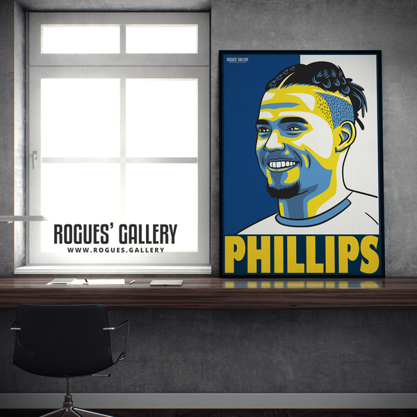 Kalvin Phillips Leeds United FC midfielder A1 large art print design
