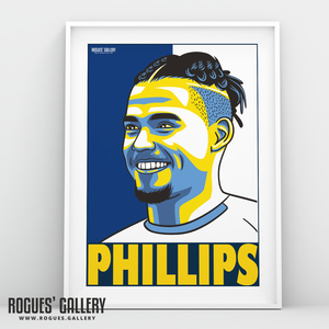 Kalvin Phillips Leeds United FC midfielder A3 art print design
