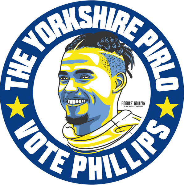 Kalvin Phillips Leeds United midfielder beer mats Vote #GetBehindTheLads