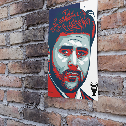 Mauricio Pochettino Spurs European Champions League Final 2019 art A3