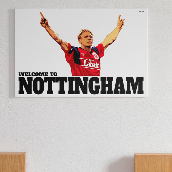 Stuart Pearce Psycho Salute Nottingham Forest Captain England left back Three Lions Print