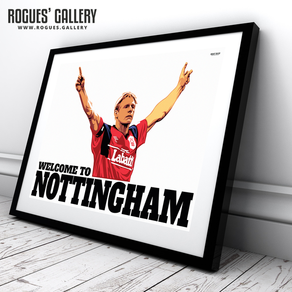 Stuart Pearce Welcome To Nottingham Psycho poster