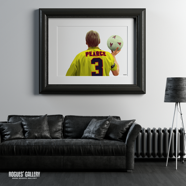 Stuart Pearce Psycho yellow shirt 3 City Ground art framed