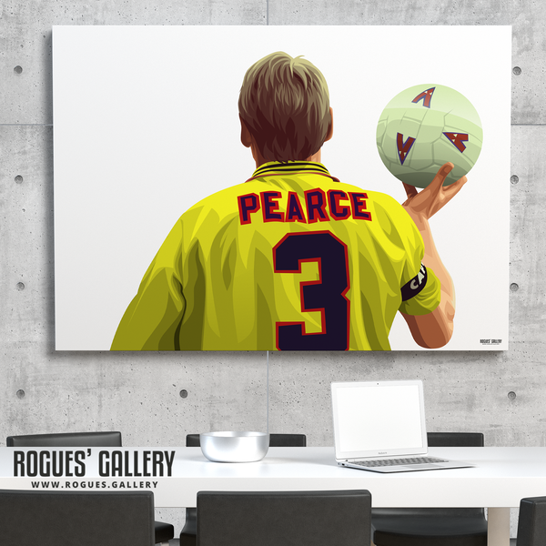 Stuart Pearce Psycho yellow shirt 3 City Ground A0 art print