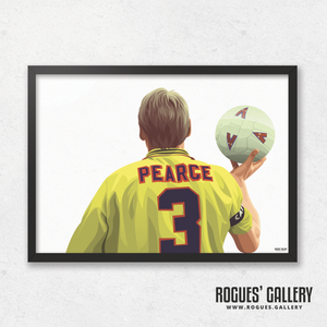 Stuart Pearce Psycho yellow shirt 3 City Ground A3 art print