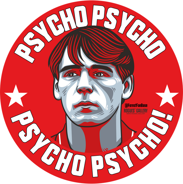 Stuart Pearce Psycho Nottingham Forest stickers City Ground