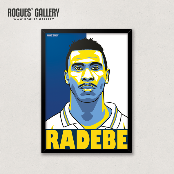 Lucas Radebe Leeds United captain south african defender A3 print
