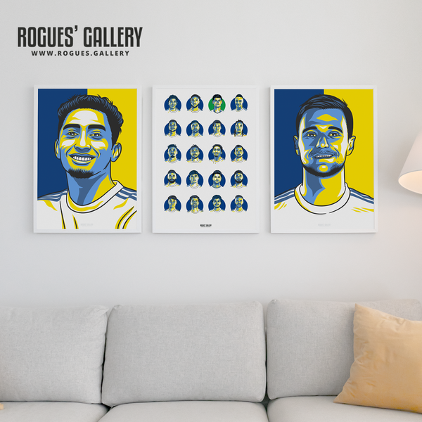 Raphinha Liam Cooper Leeds United squad prints on wall great gift