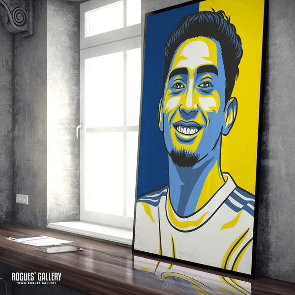 Raphinha Leeds United LUFC A0 Edit poster Elland Road Brazilian winger record signing