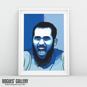 Adil Rashid England Cricket World Cup CWC2019 Winners art print A3 edit