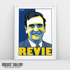 Don Revie Leeds Utd United manager A3 print Revie Option
