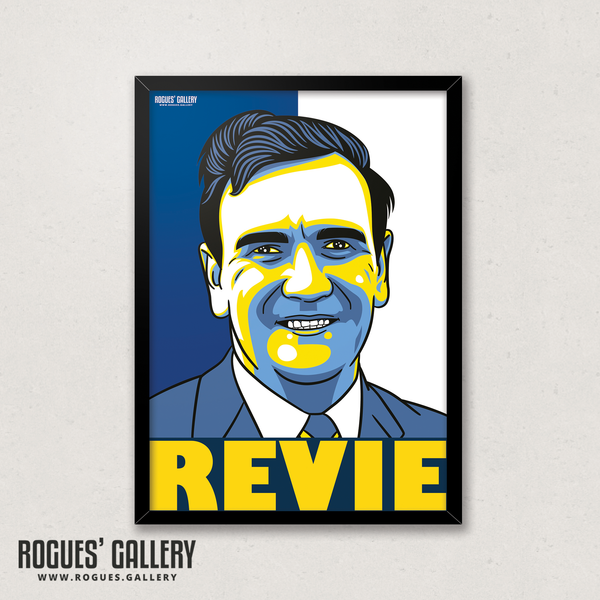 Don Revie Leeds United manager A3 print seventies winner boss