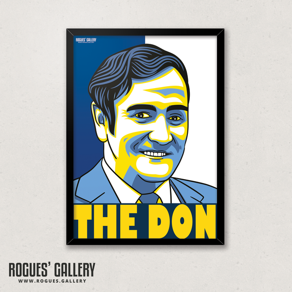 Don Revie Leeds United manager A3 winner LUFC