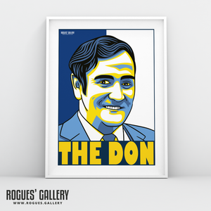 Don Revie Leeds Utd United manager A3 print The Don