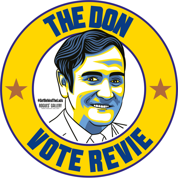 Don Revie Leeds United Manager campaign stickers LUFC Elland Road  #GetBehindTheLads The Don