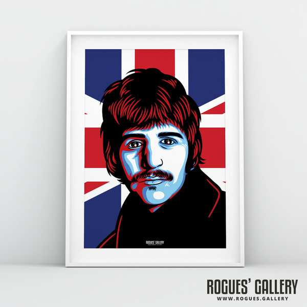 Ringo Starr The Beatles A3 art print union jack