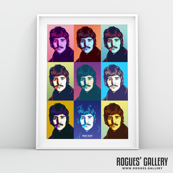 Ringo Starr The Beatles A3 art print rare artist drummer pop art