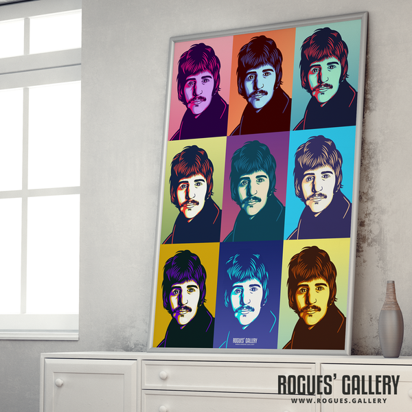 Ringo Starr The Beatles A1 huge large artist drummer pop art
