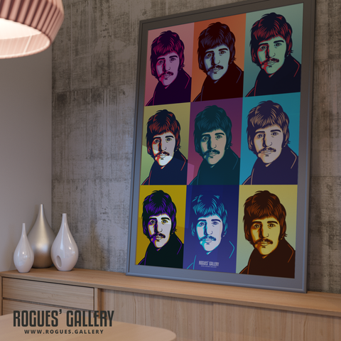 Ringo Starr The Beatles A0 huge large poster pop art