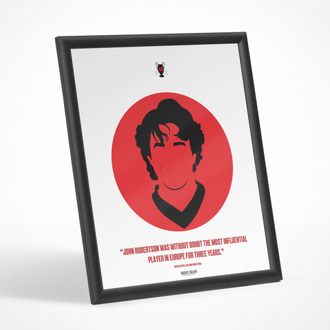 John Robertson Robbo Nottingham Forest Icon Print European Cup legend