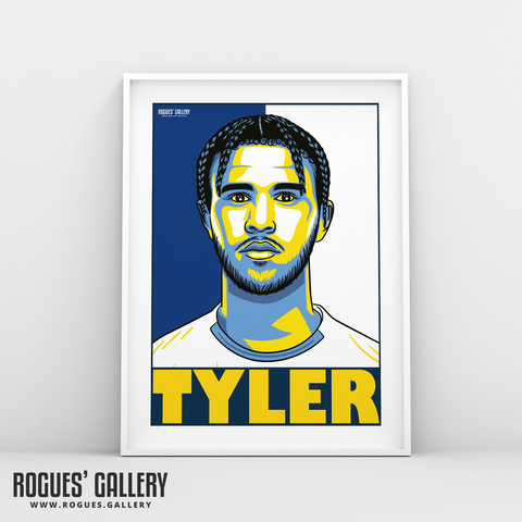Tyler Roberts Leeds United FC forward A3 art print design
