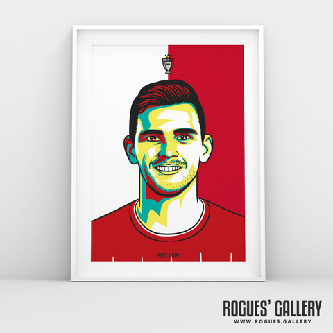 Andy Robertson Liverpool FC Anfield Art print A3 Champions Limited Edition Full Back