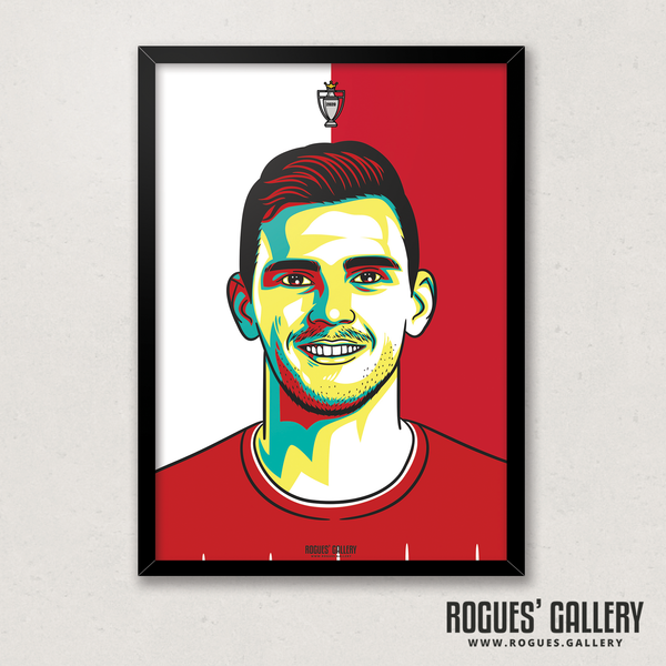 Andy Robertson Liverpool FC Anfield Art print A3 Champions Limited Edition Premier League Champions Edit