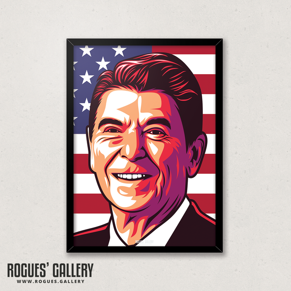 Ronnie Reagan United States of America President A3 edit art prints nancy